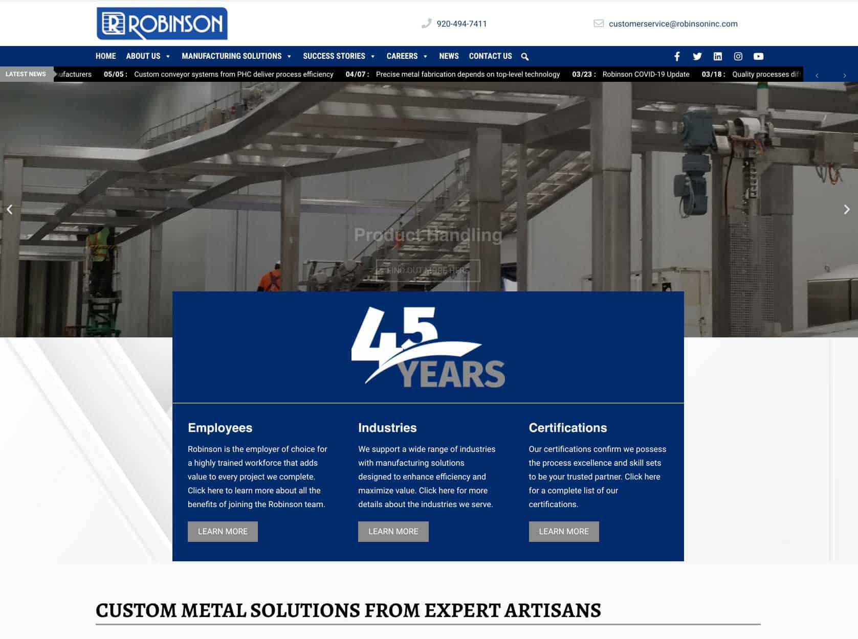 Read more about the article Robinson updates website to reflect single-source solutions