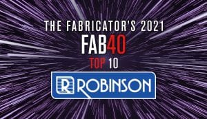 """Read more about the article Robinson moves into the top 10 on """"The Fabricator"""" FAB 40 list"""
